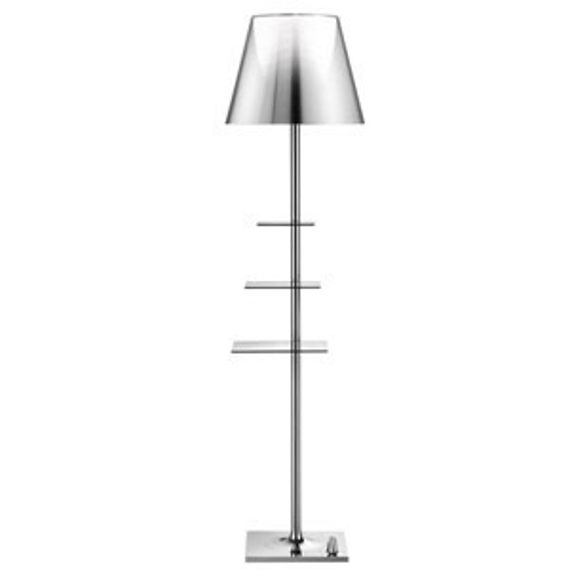 Flos :: Lampa Podłogowa Biblotheque Nationale aluminized silver