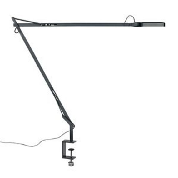 Flos :: Lampa biurkowa Kelvin LED Clamp Anthracite